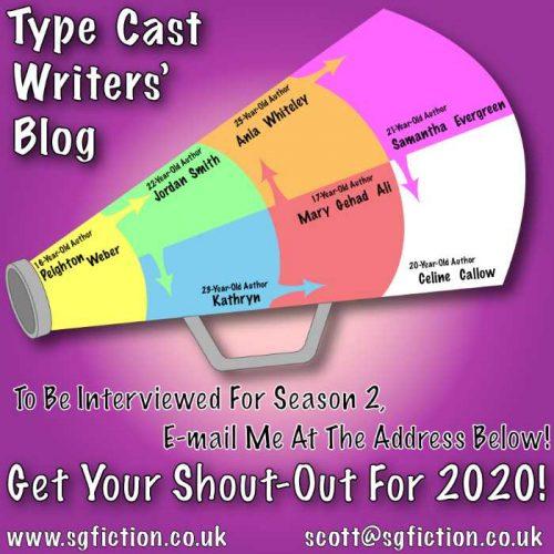 type cast creative writing blog